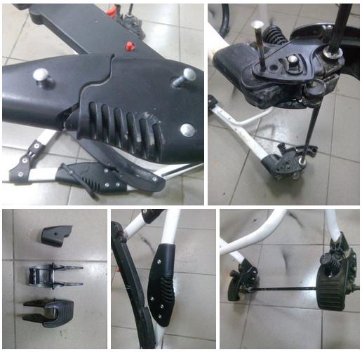 ремонт механизма складывания коляски
