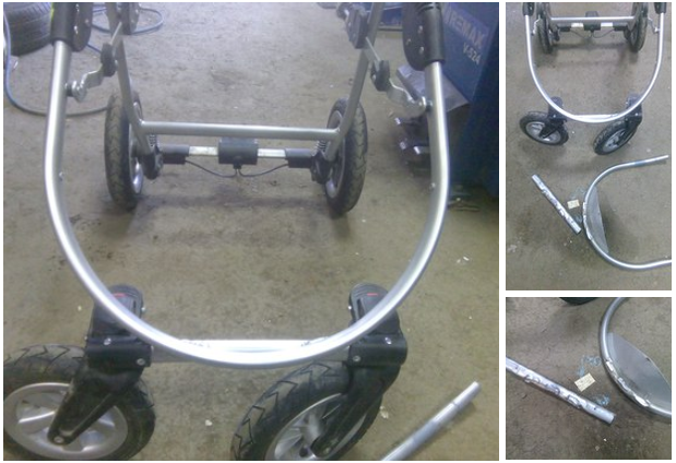 ремонт и сварка колясок
