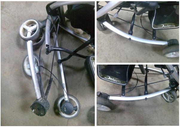 сварка колеса коляски
