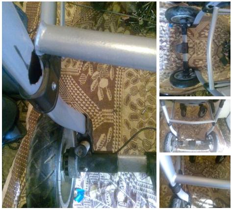 до и после сварки коляски