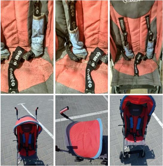 до и после химчистки коляски