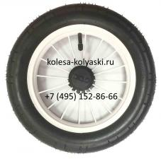 Колесо надувное со спицами размер 12 дюймов для польских колясок (Lonex, Roan, Jedo, Tako) белый диск