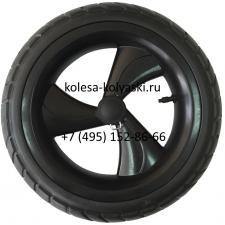 Колесо ненадувное 12 дюймов для колясок трехспицевое (размер 12 1/2х2 1/4) тип 10