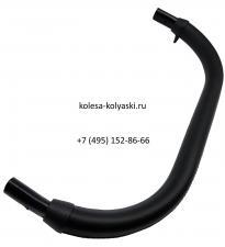 Ручка экокожа черная овал-овал 20/30-20/30 мм